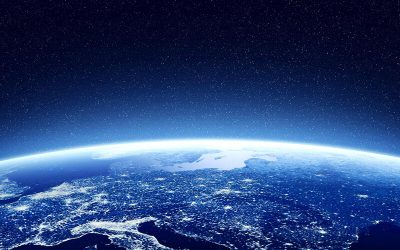 A photograph view of the earth from space.