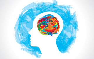 Thinking Fit mental hygiene image of head and colours